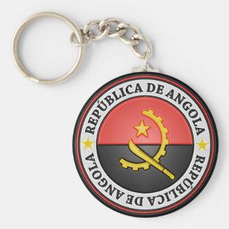 Angola Round Emblem Keychain