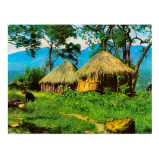 Angola, Traditional village, plateau  of Benguela Postcard