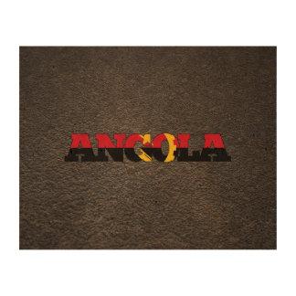 Angolan name and flag cork paper prints