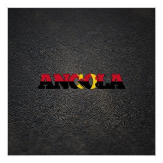Angolan name and flag perfect poster