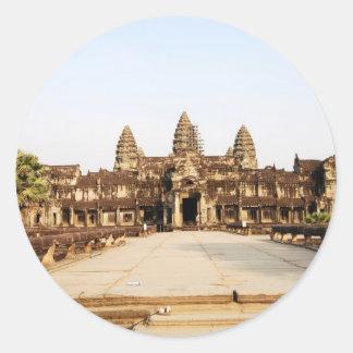 Angor Wat Round Sticker
