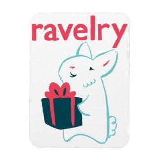 Angora Bunny Ravelry Magnet