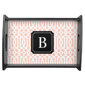 Angora Monogram Trellis | Serving Tray