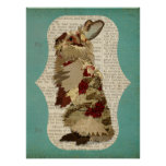 ANGORA RABBIT RETRO Art Poster