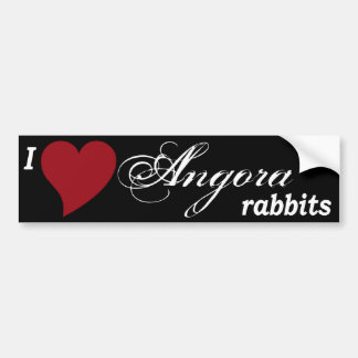 Angora rabbits bumper sticker