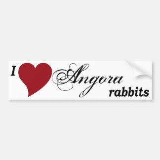Angora rabbits car bumper sticker