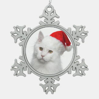 Angora Santa Cat Ornament