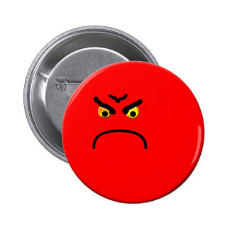Angry 2 Inch Round Button