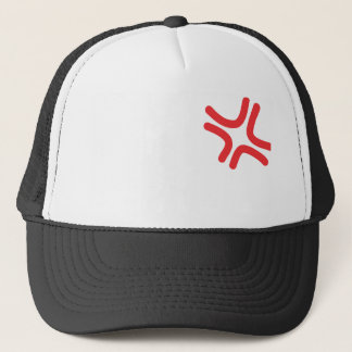angry anime trucker hat