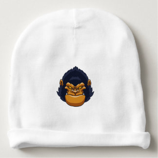 angry ape gorilla face baby beanie