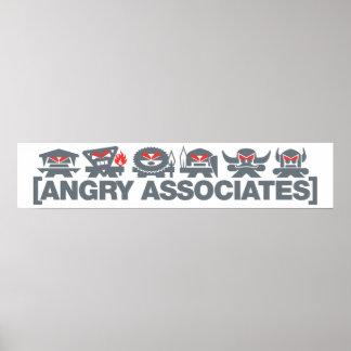 Angry Associates Crew - grey on light Poster