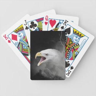 Angry bald eagle poker deck