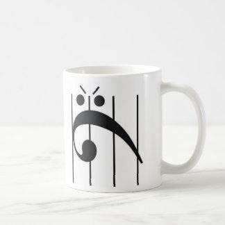 Angry Bass Clef Coffee Mug