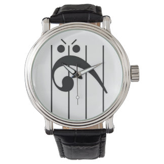 Angry Bass Clef Watch