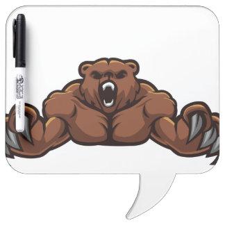 Angry Bear Dry-Erase Whiteboard