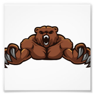 Angry Bear Photo Art
