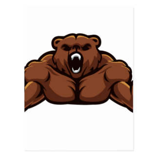 Angry Bear Postcard