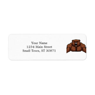 Angry Bear Return Address Label