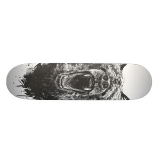 Angry bear skateboard