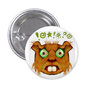 Angry Beaver 1 Inch Round Button