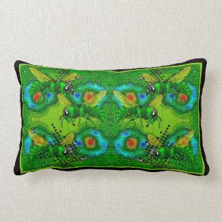 Angry Bees Lumbar Pillow
