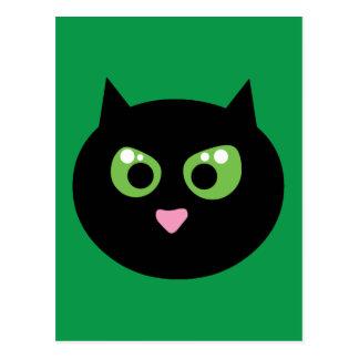 Angry Black Cat Postcard