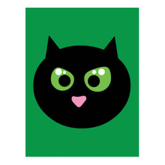 Angry Black Cat Postcards