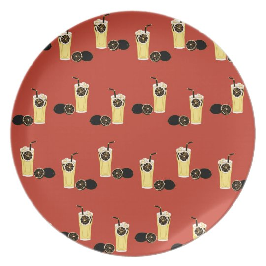Angry Black Lemon Tea Plate