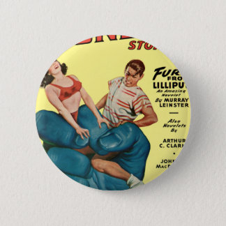 Angry Blue Giant and Teenagers 2 Inch Round Button