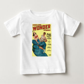 Angry Blue Giant and Teenagers Baby T-Shirt