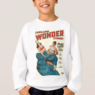 Angry Blue Giant and Teenagers Sweatshirt