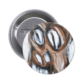 Angry Brown Horse animal expressionism Pinback Button