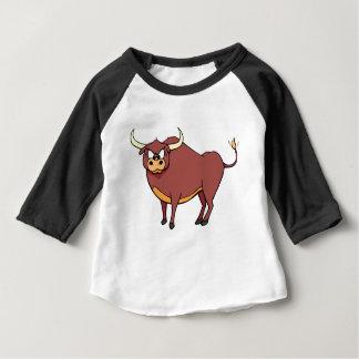 Angry Bull Cartoon Baby T-Shirt