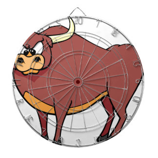 Angry Bull Cartoon Dartboard