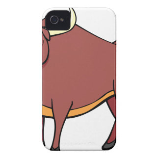 Angry Bull Cartoon iPhone 4 Case-Mate Cases