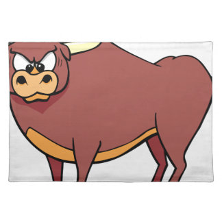 Angry Bull Cartoon Placemat