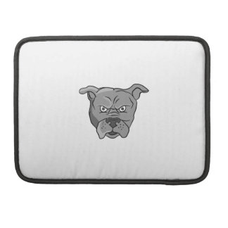 Angry Bulldog Head Cartoon Sleeves For MacBooks