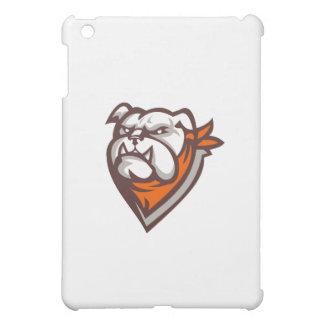 Angry Bulldog Wearing Neckerchief Retro iPad Mini Case