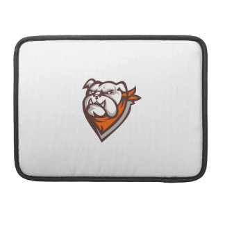 Angry Bulldog Wearing Neckerchief Retro Sleeve For MacBook Pro