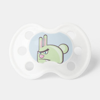 Angry Bunny Vector Icon Baby Pacifiers