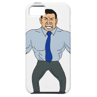 Angry Businessman Cartoon iPhone 5 Case
