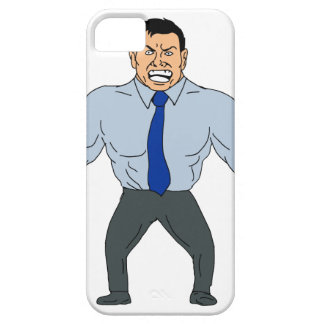 Angry Businessman Cartoon iPhone 5 Covers