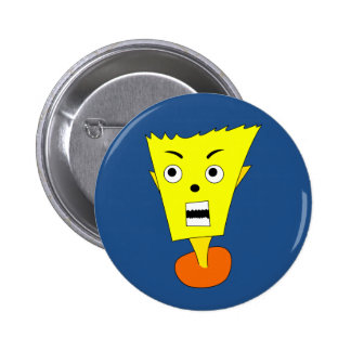 Angry Cartoon Face 2 Inch Round Button