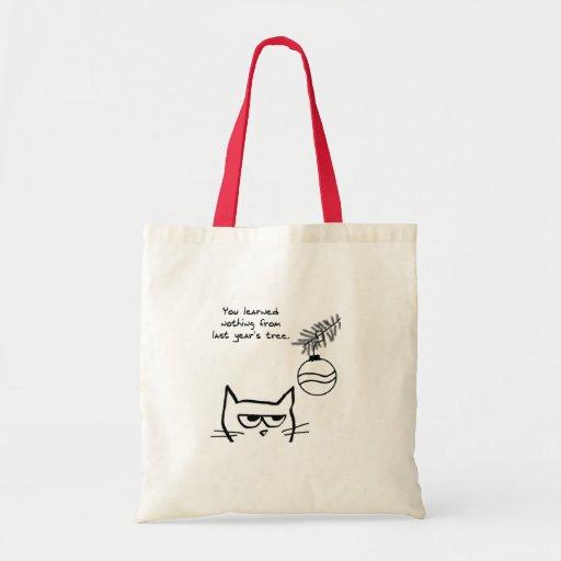 Angry Cat and the Christmas Tree Bag
