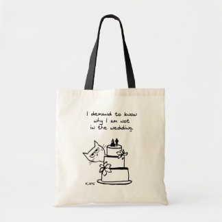Angry Cat Crashes the Wedding Tote Bag