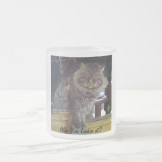 Angry Cat Frosted Coffee Mug
