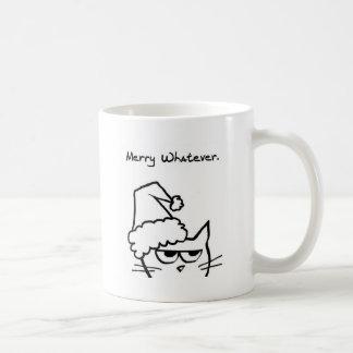 Angry Cat hates Christmast Coffee Mug
