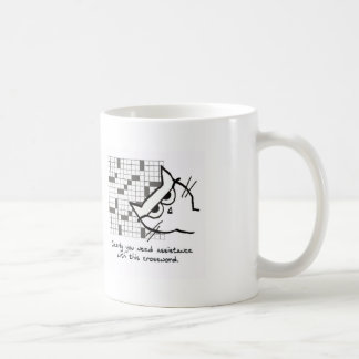 Angry Cat Helps with the Crossword Coffee Mug