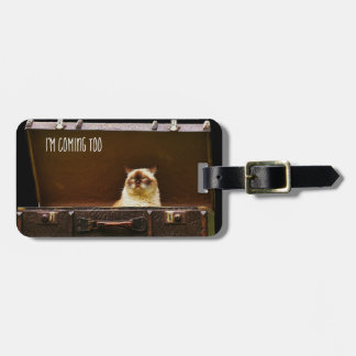 Angry Cat Personalized Luggage TAG Funny Custom 3