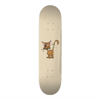 Angry Cat Skate Board Deck